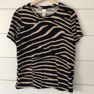 H&M Zebra print T-shirt